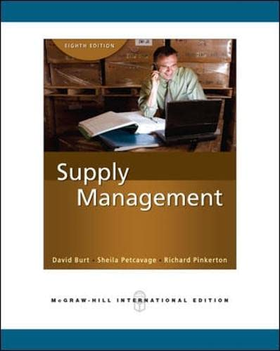 9780071263306: Supply Management (Int'l Ed): The Key to Supply Chain Management