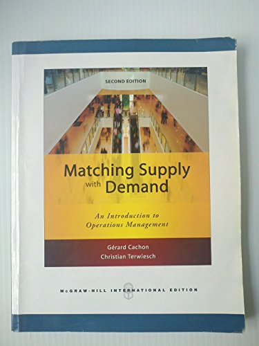 9780071263313: Matching Supply with Demand