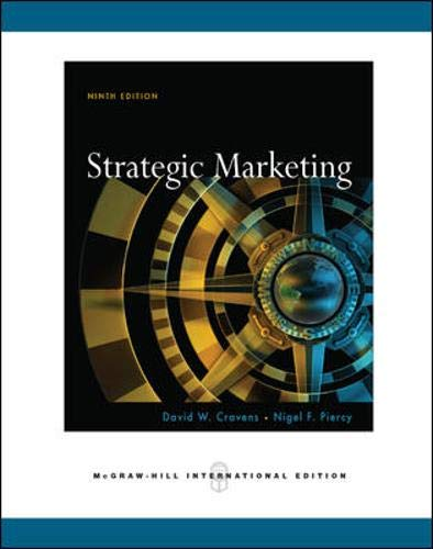 9780071263351: Strategic Marketing