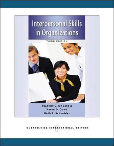 9780071263375: Interpersonal Skills in Organizations