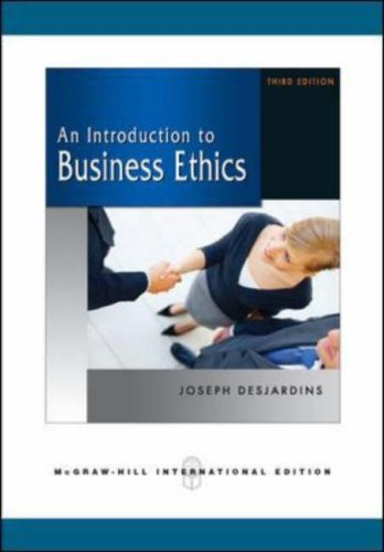 9780071263399: An Introduction to Business Ethics