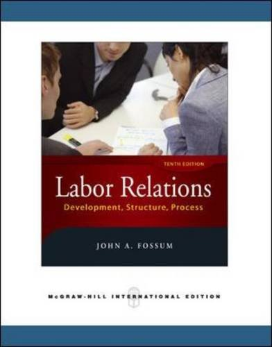 9780071263481: Labor Relations
