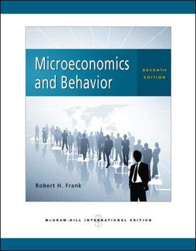 9780071263498: Microeconomics and Behavior