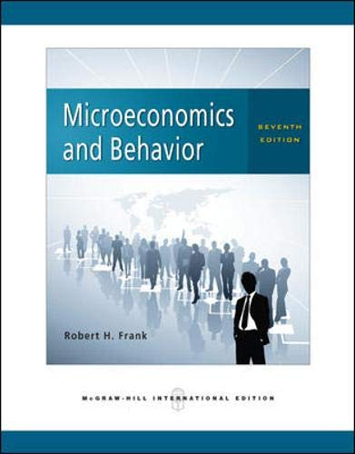 9780071263498: Microeconomics and Behavior