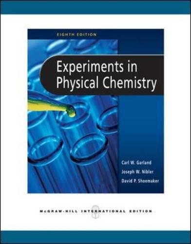 9780071263511: Experiments in Physical Chemistry