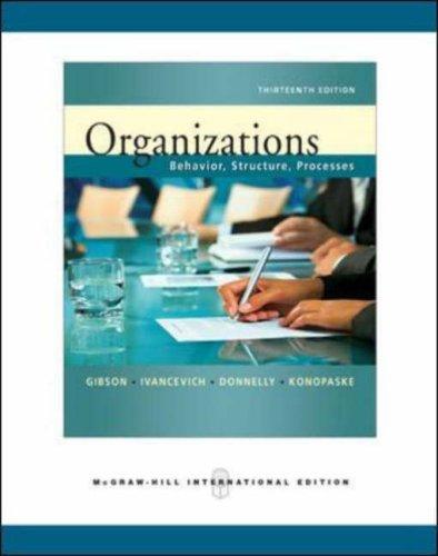 9780071263528: Organizations: Behavior, Structure, Processes