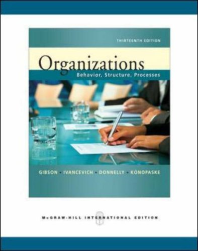 9780071263528: Organizations: Behavior, Structure, Processes