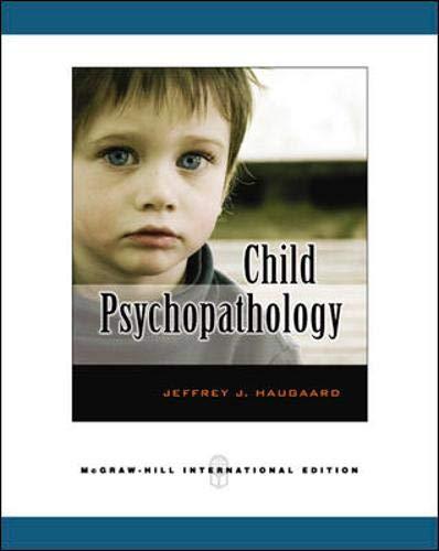 9780071263542: Child Psychopathology