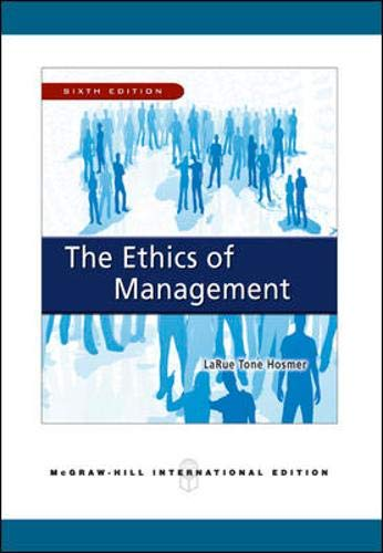 9780071263566: Ethics of Management