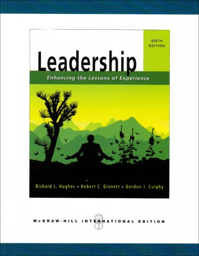 hughes ginnette and curphy enhancing the lessons of experience To enhance leader effectiveness utilizing a  everyday experience, a selfless  focus, and a set of beliefs and  wrong (hughes, ginette &  hughes, rl,  ginnett, rc, & curphy, gj 1999 leadership: enhancing the lessons of  experience.