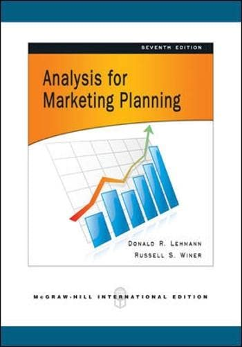 9780071263634: Analysis for Market Planning.