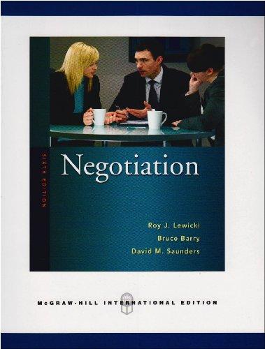 9780071263641: Negotiation.