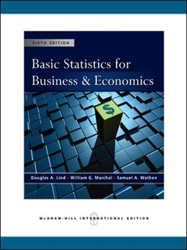 9780071263658: Basic Statistics for Business and Economics