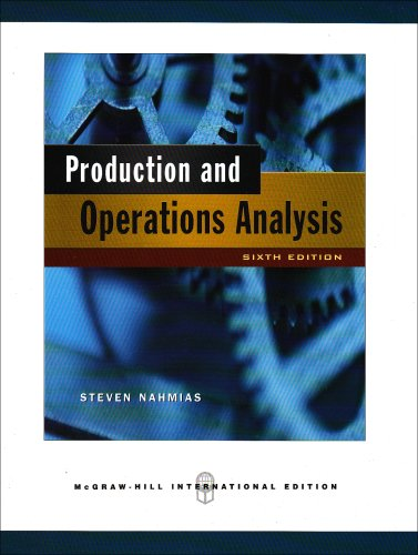 9780071263702: Production and Operations Analysis