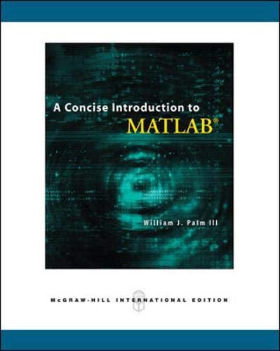 9780071263726: A Concise Introduction to MATLAB. William J. Palm III