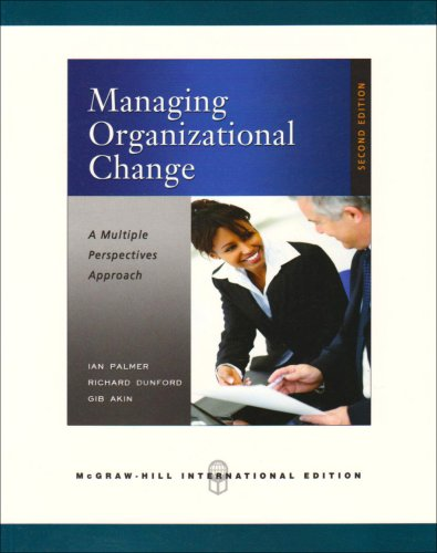 9780071263733: Managing Organizational Change:  A Multiple Perspectives Approach (Int'l Ed)
