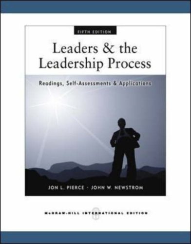 9780071263764: Leaders and the Leadership Process