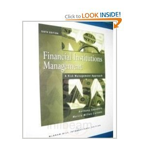 9780071263849: Financial Institutions Management: A Risk Management Approach