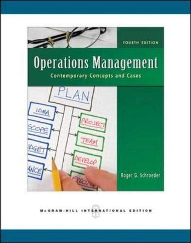9780071263863: Operations Management: Contemporary Concepts and Cases