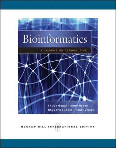 9780071263900: BioInformatics: A Computing Perspective