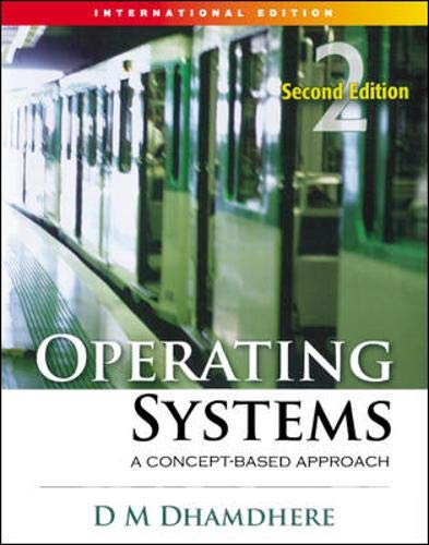 9780071264365: Operating Systems: V. 2 E: A Concept-Based Approach