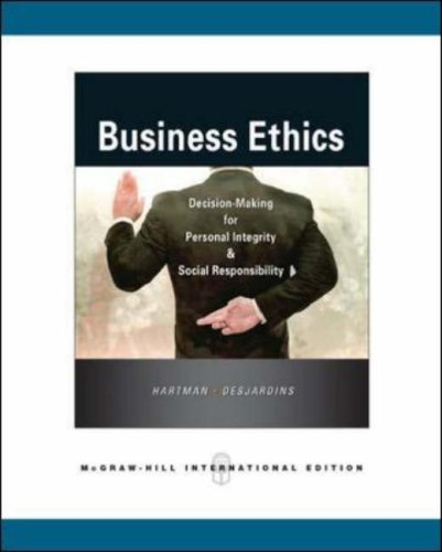 9780071264600: Business Ethics: Decision-Making for Personal Integrity & Social Responsibility: Decision-making for Personal Integrity and Social Responsibility