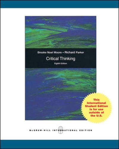 9780071266215: Critical Thinking 8th edition