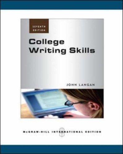 9780071266512: College Writing Skills