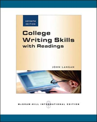 9780071266529: College Writing Skills with Readings, 7th Edition