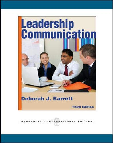 9780071267427: Leadership Communication