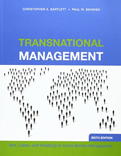 9780071267434: Transnational Management: Text, Cases and Readings in Cross-Border Management