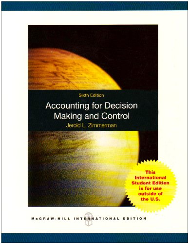 9780071267458: Accounting for Decision Making and Control