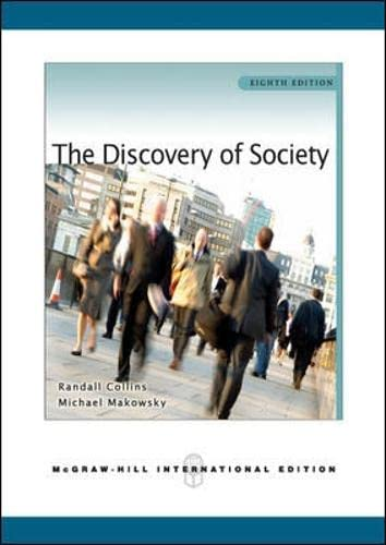 9780071267601: The Discovery of Society (Asia Higher Education Humanities and Social Sciences Sociology)