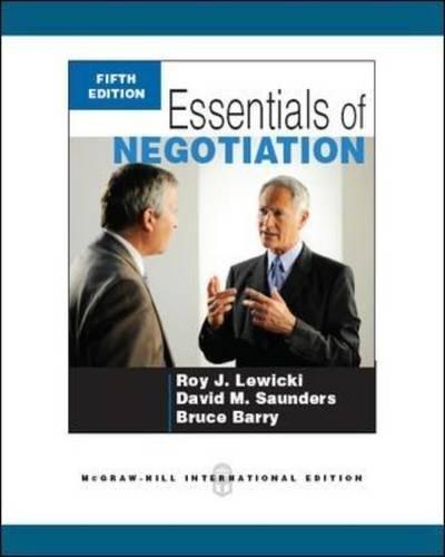 9780071267731: Essentials of negotiation (Economia e discipline aziendali)