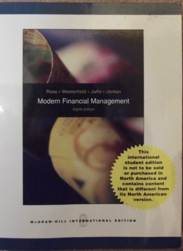 9780071267755: Modern Financial Management (International Edition) Edition: Eighth