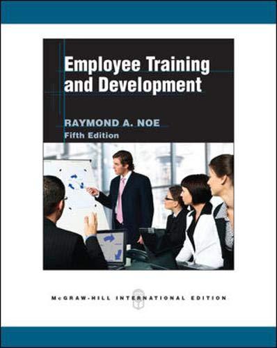 9780071267786: Employee Training and Development