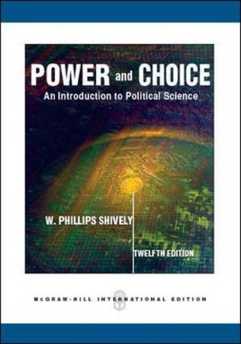 9780071267915: Power and Choice: An Introduction to Political Science