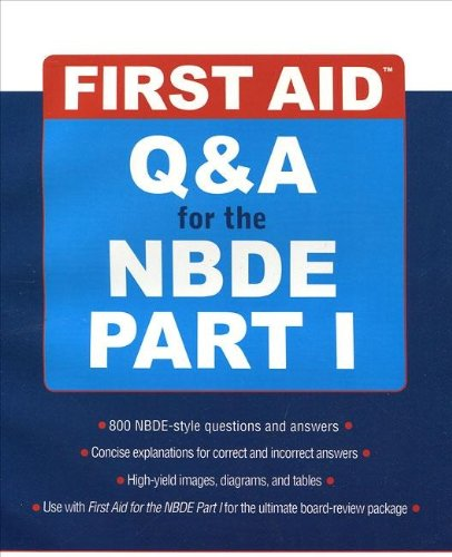 9780071268660: First Aid Q&A for the NBDE Part I