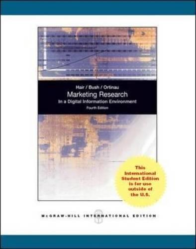 9780071270106: Marketing Research (Int'l Ed)