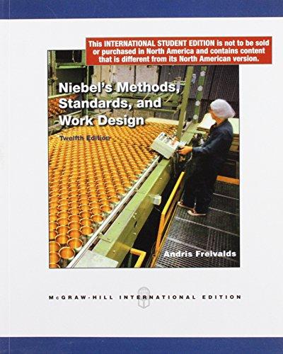 9780071270298: Niebel's Methods, Standards and Work Design