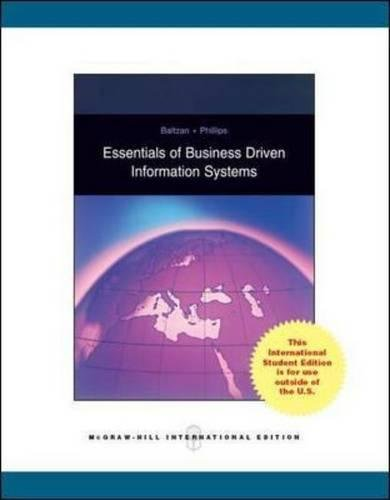 9780071270342: Essentials of Business-Driven Information Systems