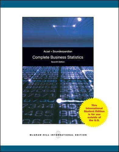 Complete Business Statistics: Aczel, Amir D.