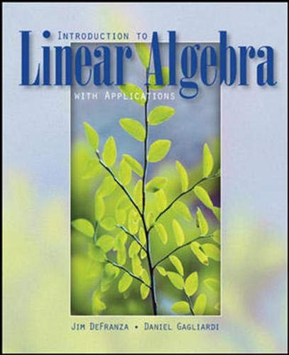 9780071270540: Introduction to Linear Algebra