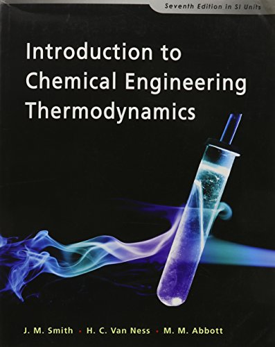 9780071270557: Introduction to Chemical Engineering Thermodynamics
