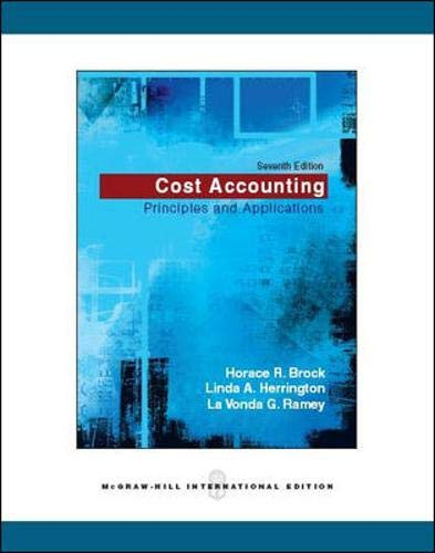 9780071271868: Cost Accounting: Principles and Applications