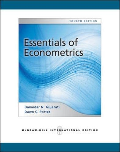 9780071276078: Essentials of Econometrics (Int'l Ed)