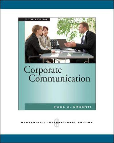 9780071276153: Corporate Communication
