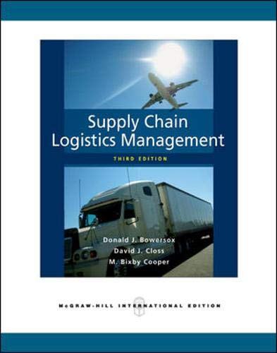 9780071276177: Supply Chain Logistics Management. Donald J. Bowersox, David J. Closs, M. Bixby Cooper