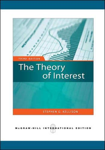 9780071276276: Theory of Interest