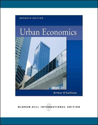 9780071276290: Urban Economics